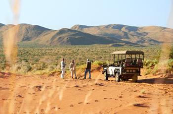 Private safari experiences are standard at Tswalu Kalahari
