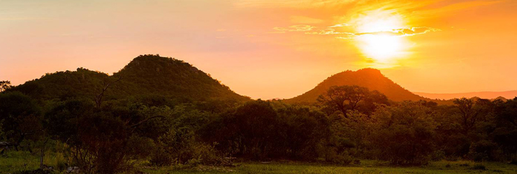 Sunset on safari at Ulusaba