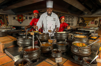 The Boma Dinner at Victoria Falls Safari Lodge is a must