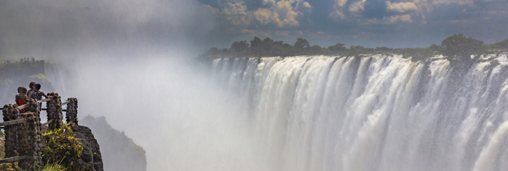 Victoria Falls with a good flow, Zambia