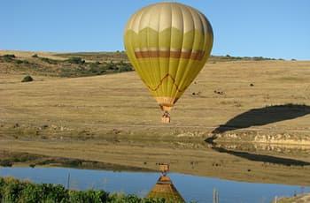 Hot Air Balloon in Flight, Near Cape Town