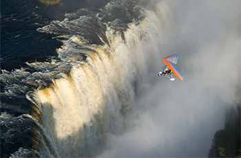 A fliight over the falls is an optional extra that can be arranged
