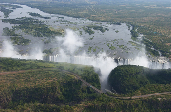 The Victoria Falls are truly a natural spectacle