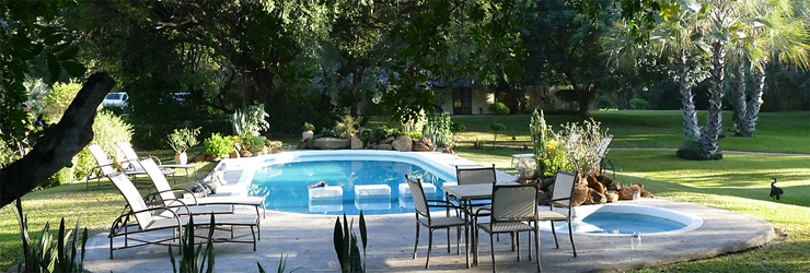 Waterberry Lodge is set in tranquil gardens on the banks of the Zambezi River
