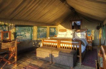 Interior of the Luxury Tents, Camp Xaxanaka, Okavango Delta