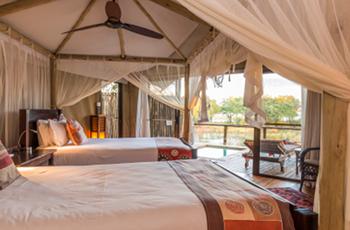 Accommodation at Anabezi Camp, Lower Zambezi, Zambia