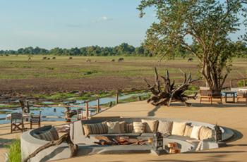 View from Kafunta Lodge, South Luangwa, Zambia