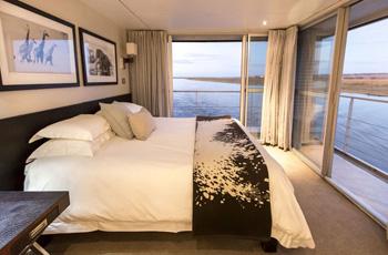 Room Interior on Zambezi Queen Houseboat