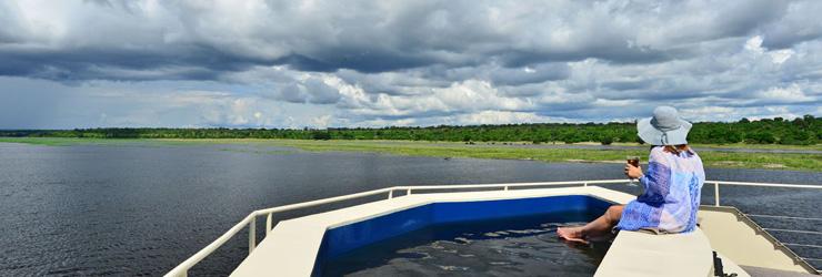 Plunge Pool on Zambezi Queen Houseboat
