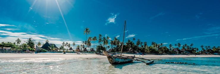 A characteristic dhow in Zanzibar