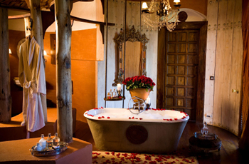 Bathroom in one of the suites