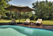 Swimming pool at Camp Okavango