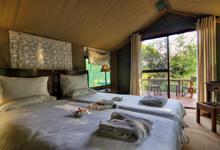 Tent interior at Camp Okavango