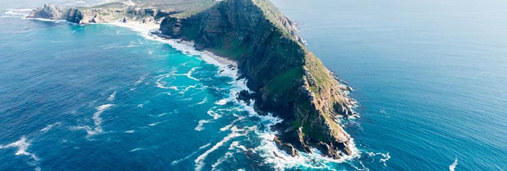 The craggy Cape Peninsula about 1 hour from Cape Town