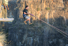 Bridge swing, Victoria Falls