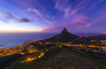 Lions Head at sunset, Cape Town