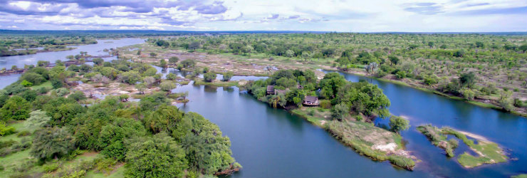 Sindabezi upstream of Victoria Falls is a romantic bush honeymoon destination