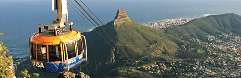 Table Mountain Cableway near Cape Town Hollow Hotel