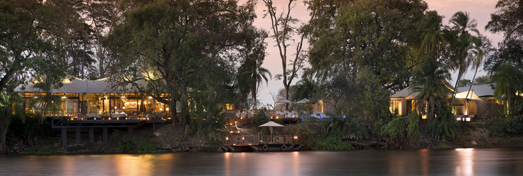 Thorntree Lodge just above the Victoria Falls, Zambia