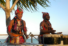 Traditional music, Ocean Paradise Resort, Zanzibar