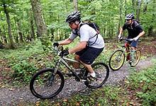 Mountain biking near Tsala Treetops, Garden Route