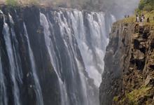 Tourists at Victoria Falls