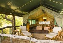 Xaxanaka Camp tent interior